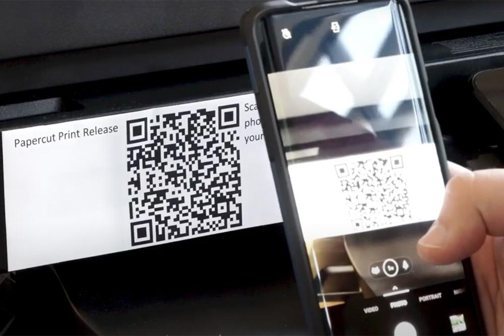 PaperCut QR Code Printing
